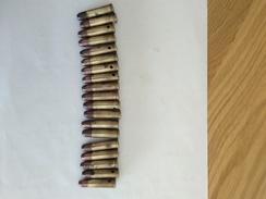 19 Munitions 8 Mm Mle 1892 SFM - Armes Neutralisées