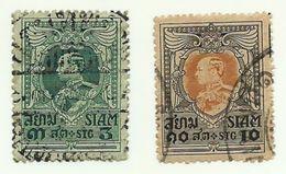 1920 - Siam 159 + 161 Effigie, - Siam