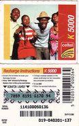 Zambia Celtel K 5 000 Recharge Phonecard, Used - Zambia
