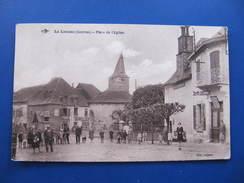 CPA - LE LONZAC - PLACE DE L'EGLISE - HÔTEL CHAMBRAS - France
