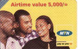 Uganda Airtime 5 000 Recharge MTN Phonecard, Used - Uganda