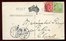 AUSTRALIA ABORIGINE CHILDREN TO PEKING CHINA - Postmark Collection