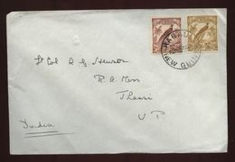 NEW GUINEA 1939 BIRDS ON COVER TO INDIA - Unclassified
