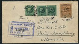 1930 REGISTERED IMPERF AND PERF COMBO COVER - Stamps