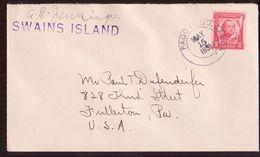 TOKELAU/SWAINS ISLAND/US PACIFIC COVER-RARE! - Unclassified