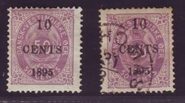 DANISH WEST INDIES 1895 10c ON 50c - Denmark