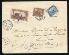 TUNISIA REGISTERED 1924 TO COSTA RICA - Europe (Other)