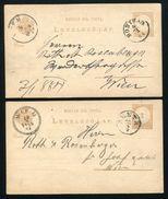HUNGARY STATIONERY POSTMARKS ZENTA AND BONYBAD - Hungary