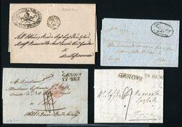 ITALY 1800s GENOVA PADOVA GRADOLI CORCIANO - Italy