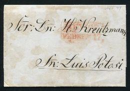 MEXICO 1849 ENTIRE LETTER SAN LUIS POTOSI - Mexico
