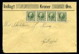 FAROE ISLANDS/DENMARK 1912 MONEY LETTER - Denmark