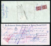 AUSTRALIA ITALY GB CHEQUES MARCA DA BOLLO 1969/70 - Australia