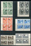 PERU 1937 WATERLOW SPECIMEN BLOCKS OF FOUR OIL INCA CORMORANT LIMA SANTA P.O. - Peru