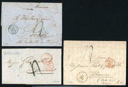 BELGIUM ENTIRE LETTERS FRANCE 1850/57 - Belgium