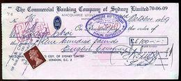 AUSTRALIA/GB/HONG KONG 1969 CHEQUE - Australia