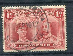 RHODESIA SOUTH HELVETIA POSTMARK DOUBLE HEAD 1912 - Grande-Bretagne (ex-colonies & Protectorats)