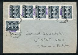 POLAND 1950 GROSZY SPECIAL HANDSTAMP COVER HEROES - Poland
