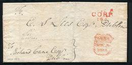 IRELAND CORK FREE POST OFFICE SECRETARY C1818 - Postmark Collection