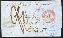 USA TRANSATLANTIC SHIP HOLLAND BALTIMORE LONDON FOREIGN OFFICE 1858 - Postal History