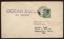 JAMAICA 1938 RARE SHIPLETTER - Unclassified