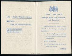GREAT BRITAIN POST OFFICE NOTICE SAVINGS BANK 1876 - Gran Bretaña