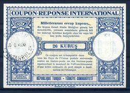 TURKEY 1950 INTERNATIONAL REPLY COUPONS - Turkey