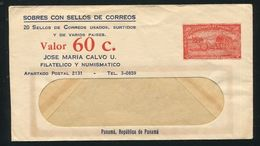 PANAMA STATIONERY STAMP DEALER SUGAR CART 1942 - Panama