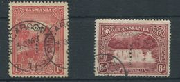 TASMANIA PERFINS 'T' MOUNT WELLINGTON DALSTON FALLS - Stamps