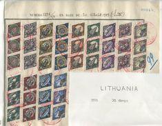 LITHUANIA UNIQUE ITEM UNION WITH MEMEL DIAMOND SHAPE MADAGASCAR UPU SPECIMENS - Lithuania