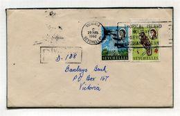 SEYCHELLES FIRST DAY VICTORIA MACHINE SLOGAN 1962 - Seychelles (...-1976)