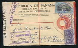 PANAMA STATIONERY REGISTERED BIRD HARPY EAGLE GOLD SILVER 1929 - Panama