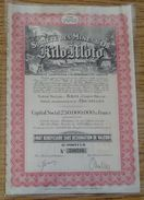 BELGIAN CONGO GOLD MINING SHARE CERTIFICATE KILO MOTO 1944 - Shareholdings