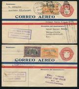 PANAMA STATIONERY FIRST FLIGHT CHIRIQUI & CURACAO BICYCLE STAMP VARIETY 1929 - Panama