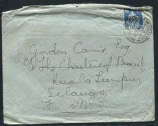 MALAYA RAILWAY SORTING CARRIAGE POSTMARK 1924 VAKAUS SWITZERLAND - Great Britain (former Colonies & Protectorates)
