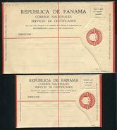 PANAMA STATIONERY REGISTERED BIRD EAGLE 1929 - Panama