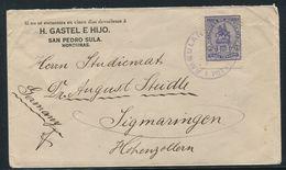 HONDURAS RAILWAY TRAVELLING POST OFFICE AMBULANTE POTRERILLOS 1921 - British Honduras (...-1970)