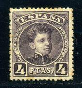 SPAIN 1901 4 PESETA WITH A.000.000 CONTROL - Spain