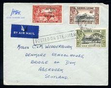 SIERRA LEONE MARITIME KG6 AIRMAIL - Sierra Leone (...-1960)