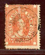 QUEENSLAND 2s 6d STAMP FINE USED - 1860-1909 Queensland
