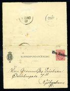 DENMARK SHIPPING FRA RONNE TYPE 1 1894 - Denmark