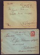 HUNGARY POSTMARKS MAROS VASARRELY AND EROOSZENTGYOPEY 1904 - Hungary