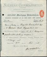 SOUTH AFRICA SHARE CERTIFICATE NIEKERK CONSOLIDATED KLERKSDORP 1898 - Old Paper