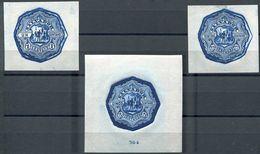EL SALVADOR 1892 COLUMBUS COLON STATIONERY DEEP BLUE DIE PROOFS - El Salvador