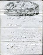 GREAT BRITAIN ADVERTISING MOORFIELD FACTORY KILMARNOCK SCOTLAND 1851 - Postmark Collection