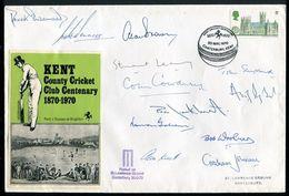 GREAT BRITAIN CRICKET SIGNATURES KENT CENTENARY CANTERBURY 1970 - Great Britain