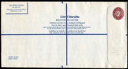 IRELAND 1976 REGISTERED ENVELOPE STATIONERY LARGE SIZE - Postmark Collection