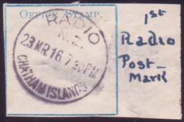 NEW ZEALAND 1916 'RADIO CHATHAM ISLANDS' CANCEL - Unclassified