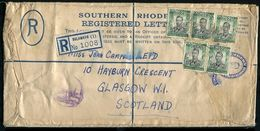 SOUTHERN RHODESIA 1950 REGISTERED STATIONERY GREAT BRITAIN CUSTOMS - Great Britain (former Colonies & Protectorates)