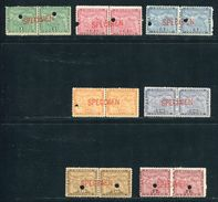 PANAMA COLOMBIA 1894 MAPS SPECIMEN AMERICAN BANK NOTE CO. - Panama