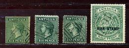 ANTIGUA QV SIX PENCE STAMPS FINE USED - Antigua & Barbuda (...-1981)